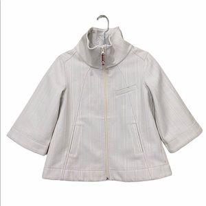 Lululemon Sz 6 White Swing Classy Coat